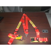 GENUINE RED SABELT TORINO S RACING HARNESS 4 POINT